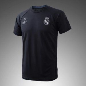 2017 Cheap Training Jersey Real Madrid Replica Black Shirt [AFC584]