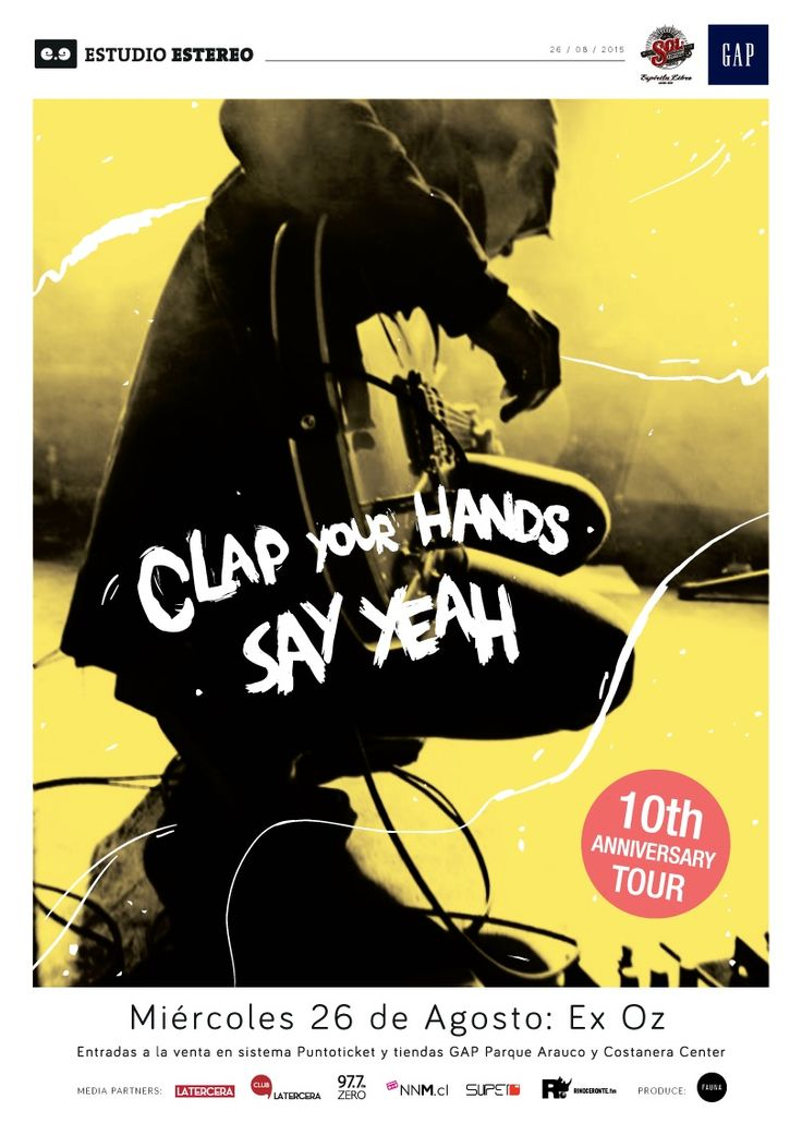 Clap Your Hands Say Yeah - 26 de agosto - Ex Oz