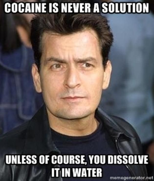 (Funny Memes) funny charlie sheen 13 pics vh funny charlie sheen cocaine solution meme