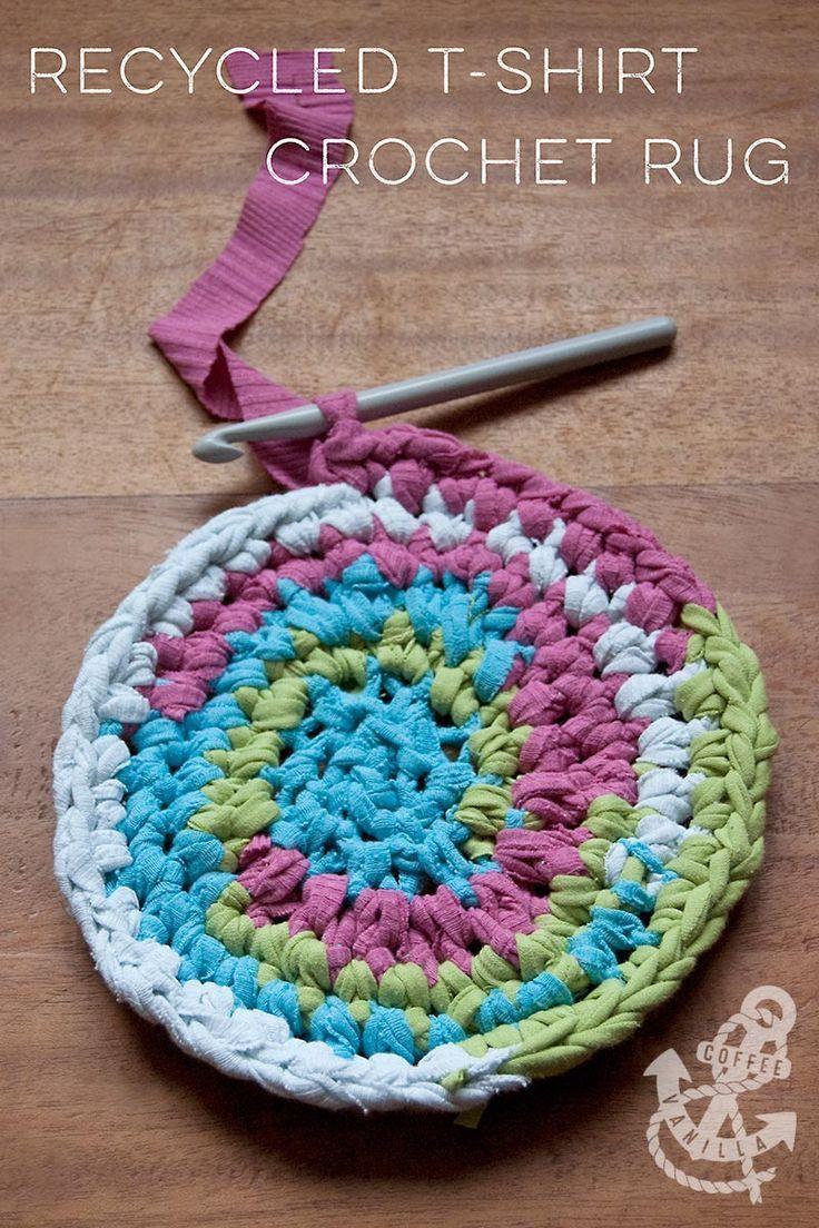 24 Pretty Picture Of Tshirt Crochet Rug