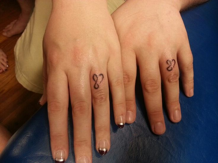 Infinity Wedding Ring Tattoos: Infinity / Mobius Strip Tattoo Wedding Bands By