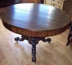 Schöner runder Biedermeier Tisch, Nussbaum / Wurzelfurnier | eBay