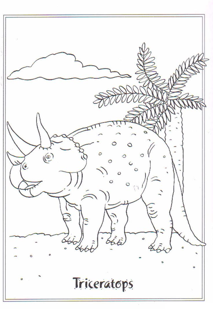 coloring page Dinosaurs 2 - Triceratops
