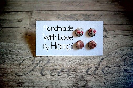 Handmade fabric earrings