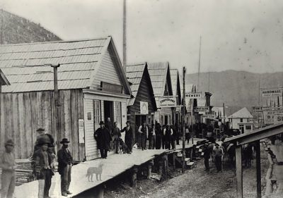 Barkerville  In 1863, the gold rush town of Barkerville, BC, Canada had a population of   10,000