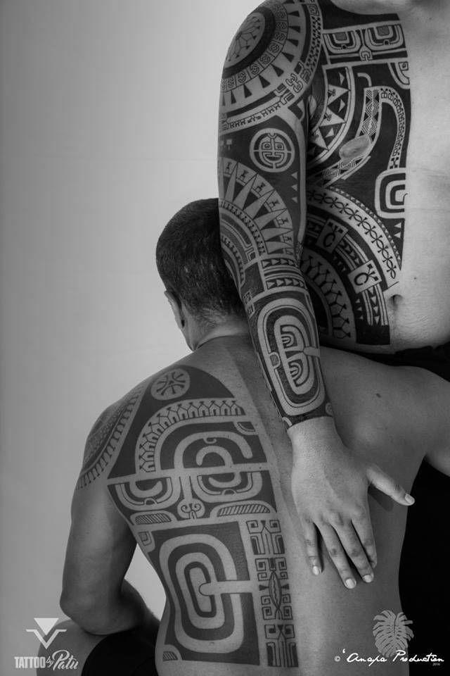 Polynesian back tattoo, beautiful