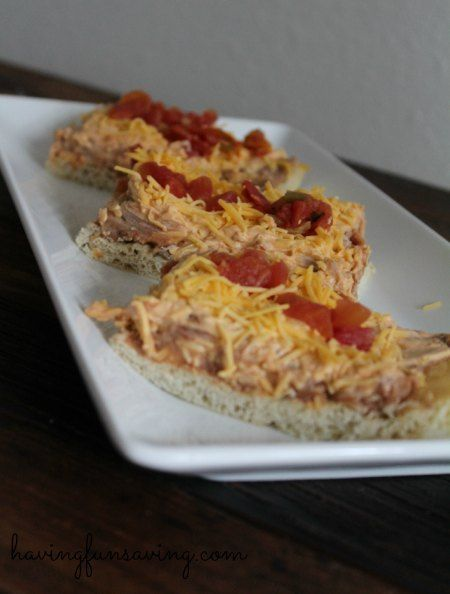Mexican Pizza Recipe from Having Fun Saving and Cooking.