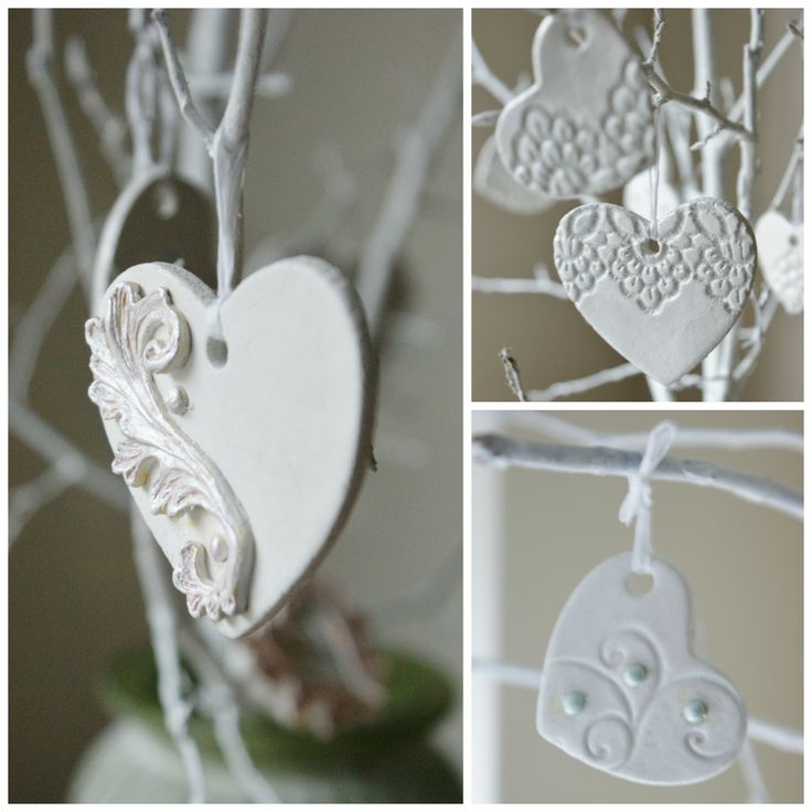 A Selection Of My Handmade Heart Decorations Clay