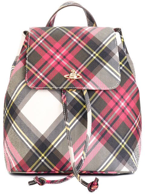 VIVIENNE WESTWOOD Checked Backpack. #viviennewestwood #bags #pvc #backpacks #cotton #