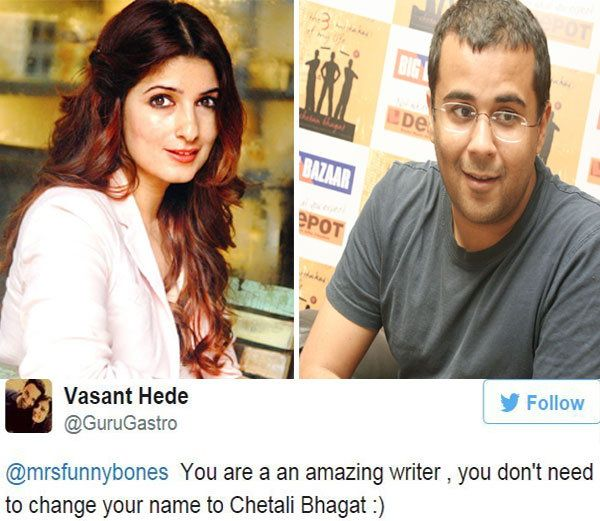 The war broke out on the Twitter between Chetan Bhagat and Twinkle Khanna!!!