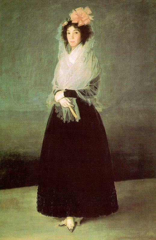 Francisco de Goya - The Countess del Carpio, Marquesa de la Solana  (oil on canvas, c. 1792)