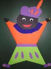 Vrolijk Zwarte Pietje vouwen met uitleg op www.juftinta.nl