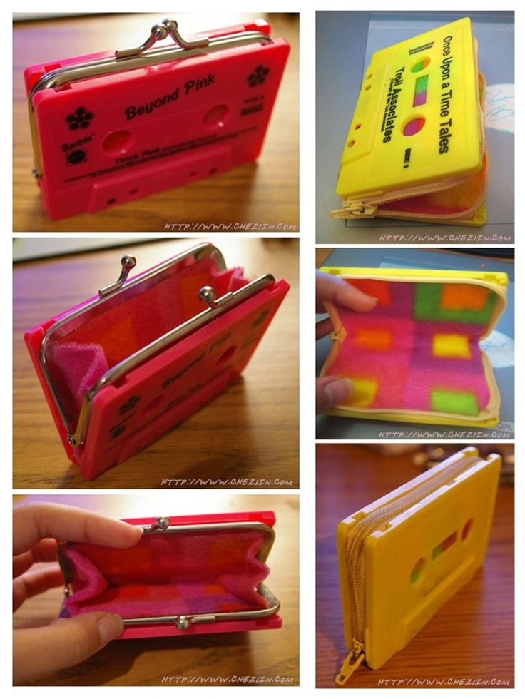 Isn't it awesome???? Tutorial - Old cassette tape wallet by chezlin.com