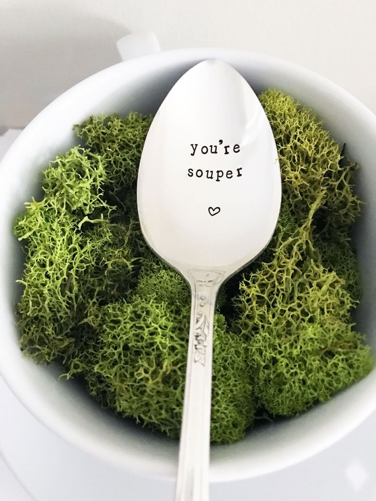 You're Souper Spoon - Hand Stamped Spoon, Soup Spoon, Soup Pun, You're Super, Soup, Gift, Present, Birthday, Congrats, Graduation, Good Job by SweetMintHandmade on Etsy https://www.etsy.com/listing/512614753/youre-souper-spoon-hand-stamped-spoon