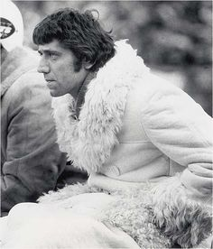 """American football quarterback """"Broadway"""" Joe Namath, frequently photographed with furs and women."""
