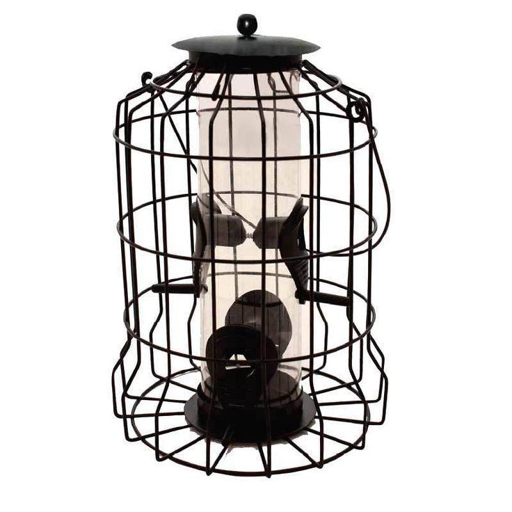 Garden Wild Bird Food Protection Wildlife Squirrel Proof Seed Feeder Wire Cage