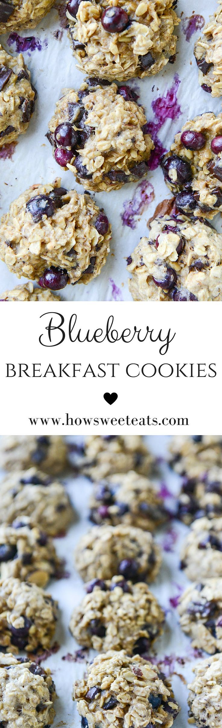 Blueberry Breakfast Cookies by @howsweeteats I howsweeteats.com