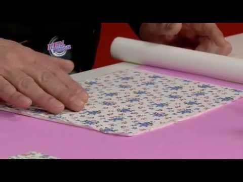 Jorge Rubicce - Bienvenidas TV en HD - Explica como hacer decoupage con tela sobre porcelana. - YouTube