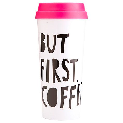 Buy Ban.do Thermal Mug, But First, Coffee Online at johnlewis.com - £14