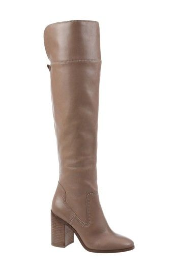Women's Sarto By Franco Sarto Freda Over The Knee Boot - Beige