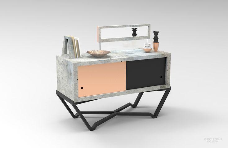 Concrete Console by Delatour Design Lab