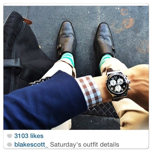 LA fashion blogger Blake Scott hitting the streets in Rock My Socks. Check  out his blog thescotteffect.com. Wearing our Green & Grey Stripe Socks in  this ...