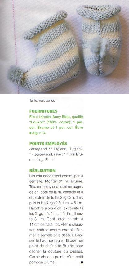 [Tricot] Les chaussons à pompons