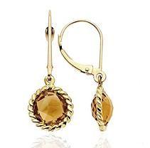 3.32 ct. t.w. Citrine Earrings in 14K Yellow Gold