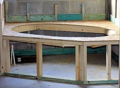 how to build a whirlpool tub frame
