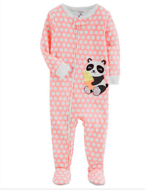 73f25e7709ab Panda Long Sleeve One Piece Pajama-Toddler Girls 5T Carters  Carters ...