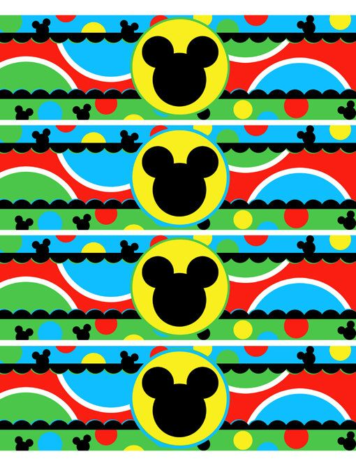 INSTANT DOWNLOAD - Mickey Mouse Clubhouse Water Bottle Wraps Favor Party Supplies and Decorations on Etsy, $2.00