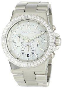 Michael Kors Women's MK5411 Dylan Glitz Chronograph White MO   watches.reviewatoz.com