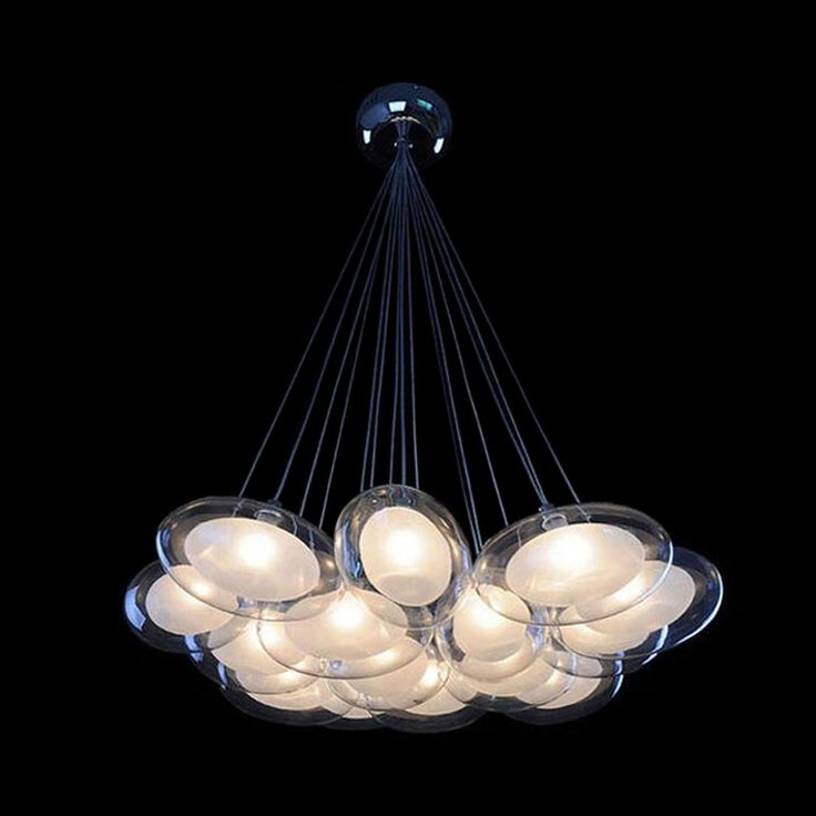175Free Shipping Modern Egg Glass Chandeliers Light with 15 G4 Led  Bulbs Dinning Study Living Room Parlor Room-in Chandeliers from Lights & Lighting on Aliexpress.com | Alibaba Group