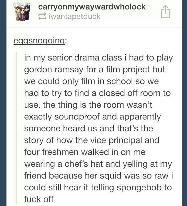 tumblr posts spongebob Hell's Kitchen Gordon Ramsey Sorry for the language