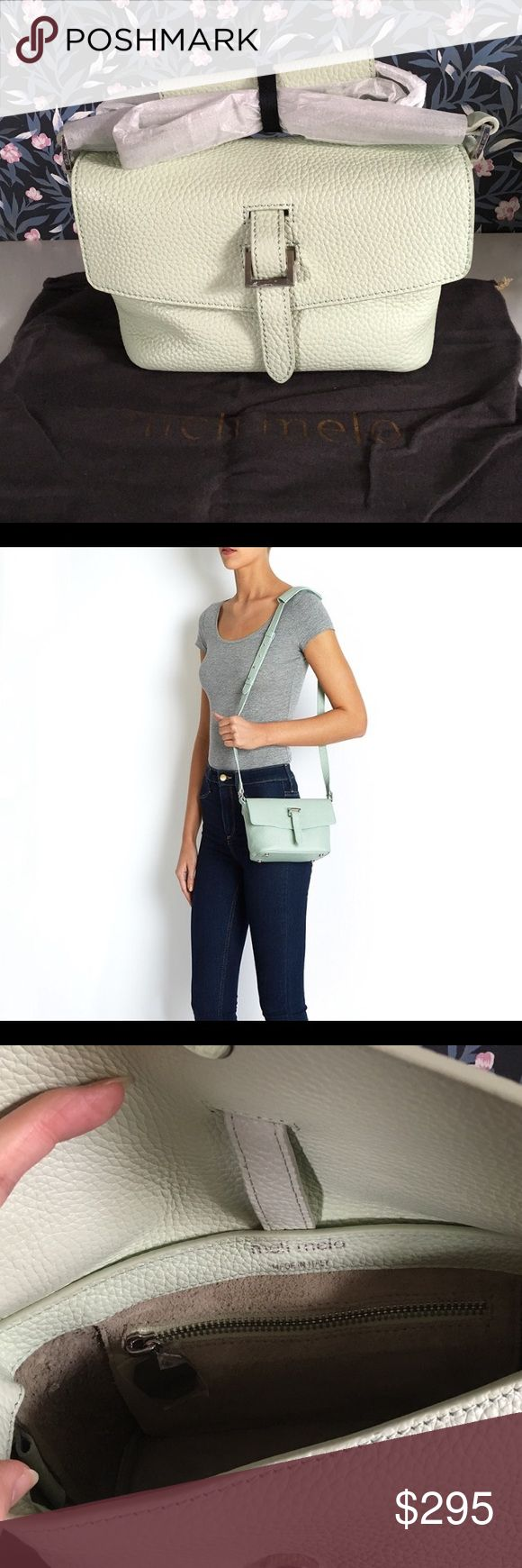 NWOT Meli Melo Maisie Micro crossbody bag Brandnew without tag, comes with dust bag. Color is cactus green. Retail $395+tax Meli Melo Bags Crossbody Bags
