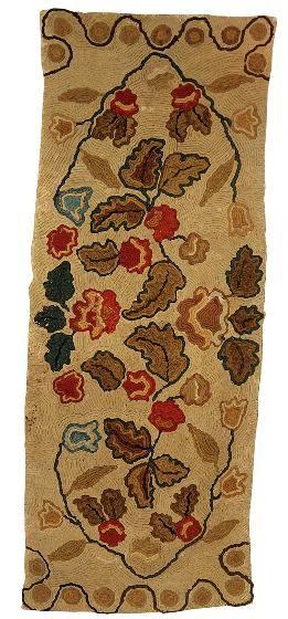 rare caterpillar shirred hearth rug new england circa first quarter 19th century with a - Hearth Rug