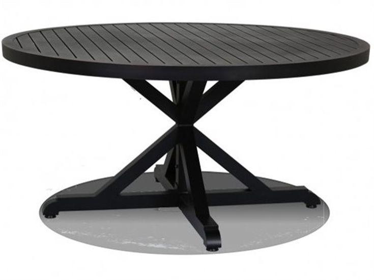Sunset West Monterey Aluminum 60 Round Dining Table