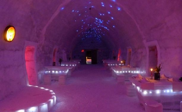 Ice Hotel in Romania