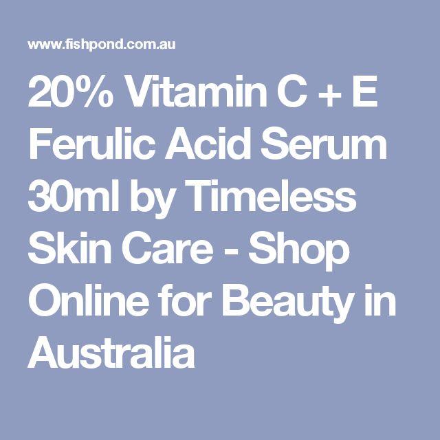 20% Vitamin C + E Ferulic Acid Serum 30ml by Timeless Skin Care - Shop Online for Beauty in Australia