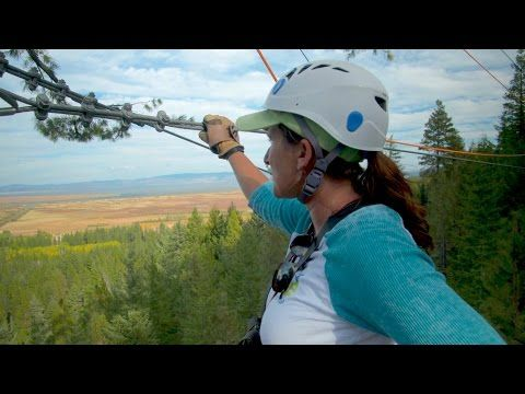 Grant's Getaways: Crater Lake Zipline - YouTube