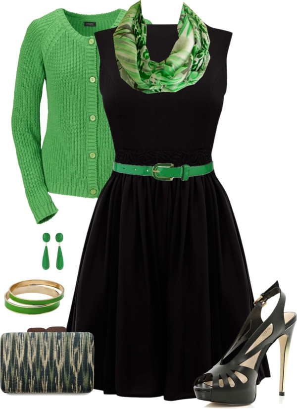 """Green Accents"" by kp802 on Polyvore"