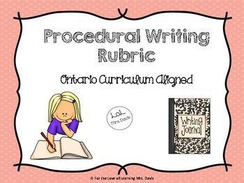 English essay helper rubric ontario