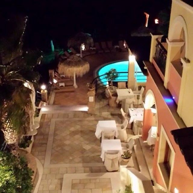 Night shoot with a pool view...!  #DelfinoBlu