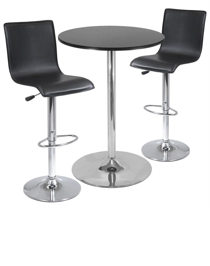 Pub Bar Set Round Table L Shape Airlift Stools 2 Stool Home Office Furniture