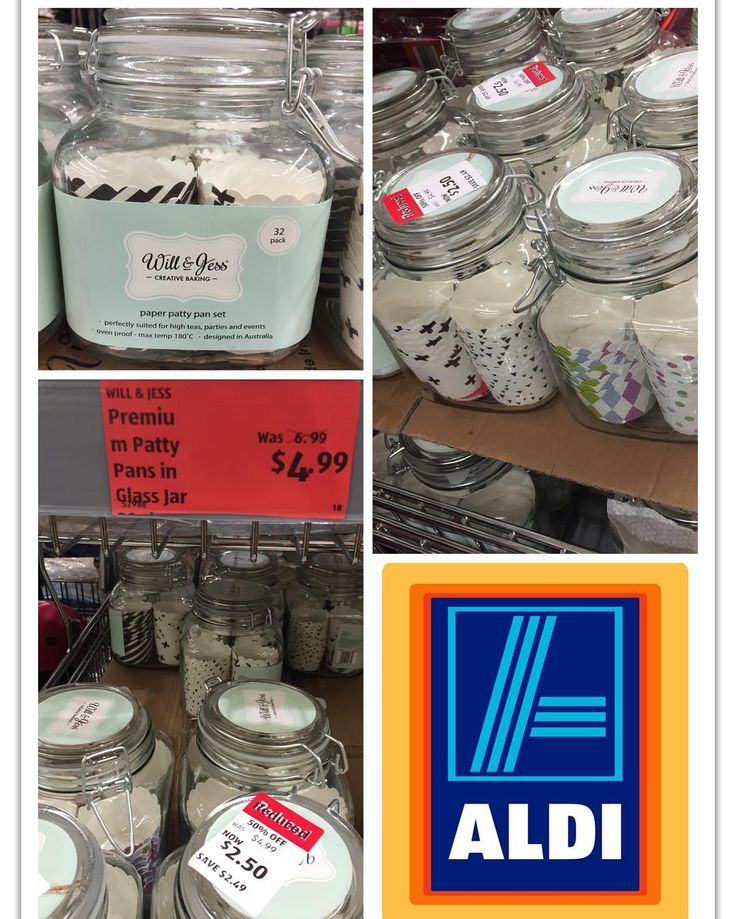 These glass jars containing 32 paper pattys have been further reduced to just $2.50 each. A lot of stock remaining at my local @aldiaustralia . . . . . . #Aldi #glassjar #willandjess #creativebaking #paperpatty #cakebaking #bakeyourown #betterthanhalfprice #onsale #jun16 #whypaymore #smartshopper #savvysaver