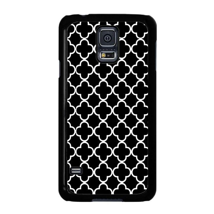 Black And White Quatrefoil Pattern Samsung Galaxy S5 Case