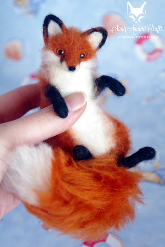 Fox by Sani Amani Crafts: Miniature Felted Planet https://www.etsy.com/shop/SaniAmaniCrafts/items