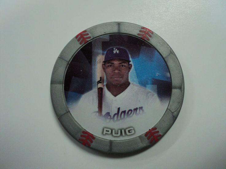 2014 Topps Chipz Yasiel Puig Gray Magnetic Poker Chip MLB Dodgers Baseball #LosAngelesDodgers