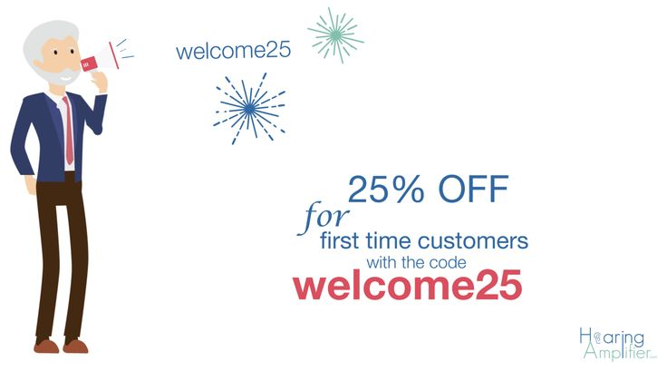 Let's go on www.hearingamplifier.com and enjoy 25% off on your first order! Stop suffering from hearing loss!