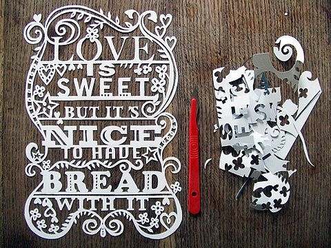 Made by Julene Harrison: Love Is Sweet, Paper Cut Outs, Crafts Ideas, Cutout, Julen Harrison, Cut Typography, Papercutting, Paper Crafts, Labels Design